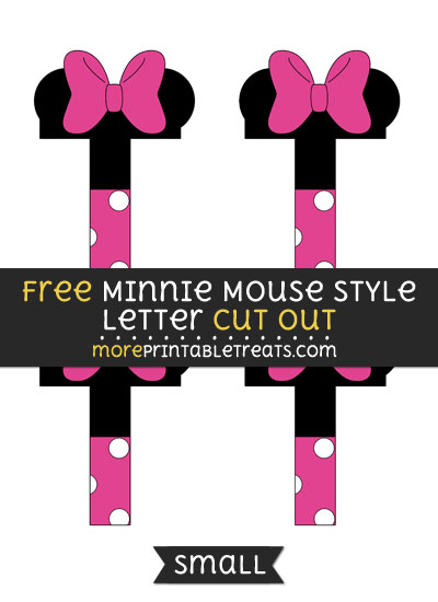 Free Minnie Mouse Style Letter T Cut Out - Small Size Printable
