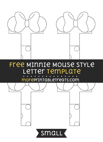 Free Minnie Mouse Style Letter T Template - Small