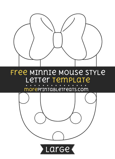 Free Minnie Mouse Style Letter U Template - Large