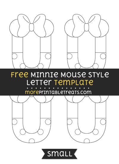 Free Minnie Mouse Style Letter U Template - Small
