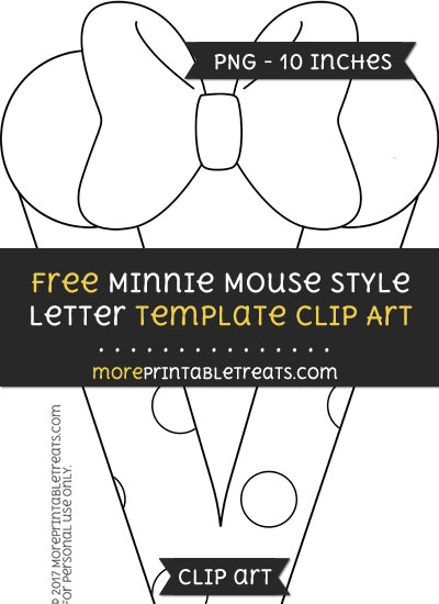 Free Minnie Mouse Style Letter V Template - Clipart