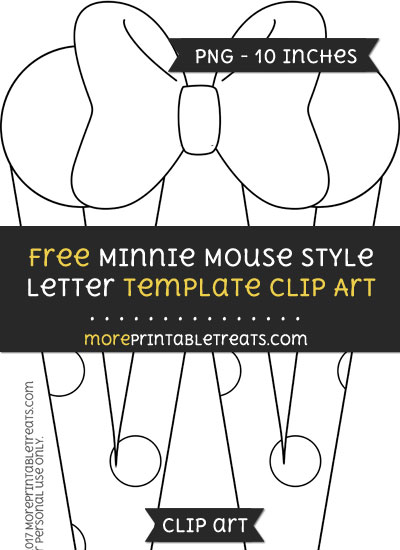 Free Minnie Mouse Style Letter W Template - Clipart