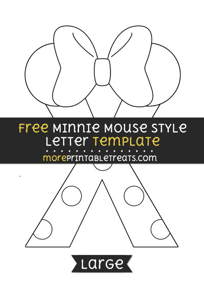Free Minnie Mouse Style Letter X Template - Large