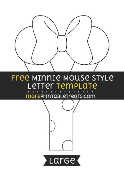 Free Minnie Mouse Style Letter Y Template - Large