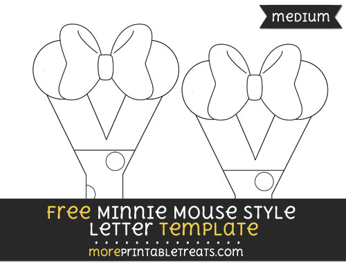 Free Minnie Mouse Style Letter Y Template - Medium