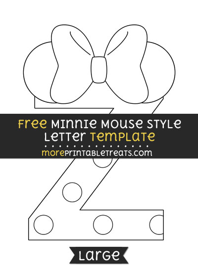Free Minnie Mouse Style Letter Z Template - Large