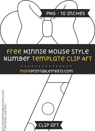 Free Minnie Mouse Style Number 7 Template - Clipart