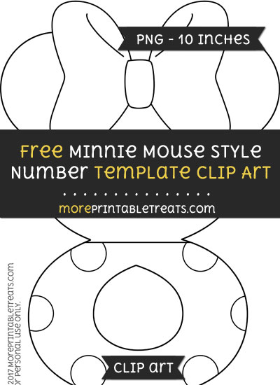 Free Minnie Mouse Style Number 8 Template - Clipart