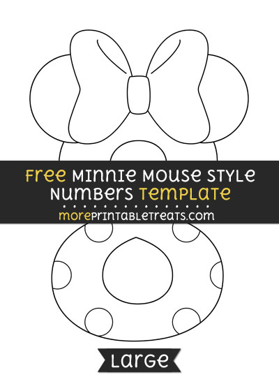 Free Minnie Mouse Style Number 8 Template - Large