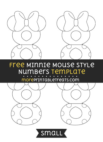 Free Minnie Mouse Style Number 8 Template - Small