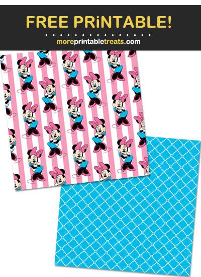 Free Printable Minnie Mouse Theme Paper