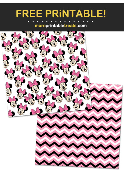Free Printable Minnie Mouse Wrapping Paper