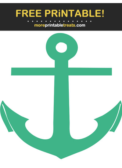 Free Printable Mint Green Anchor Cut Out