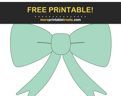 Free Printable Mint Green Pretty Bow