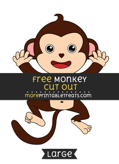 Free Monkey Cut Out - Large size printable