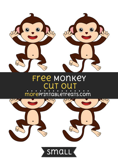 Free Monkey Cut Out - Small Size Printable