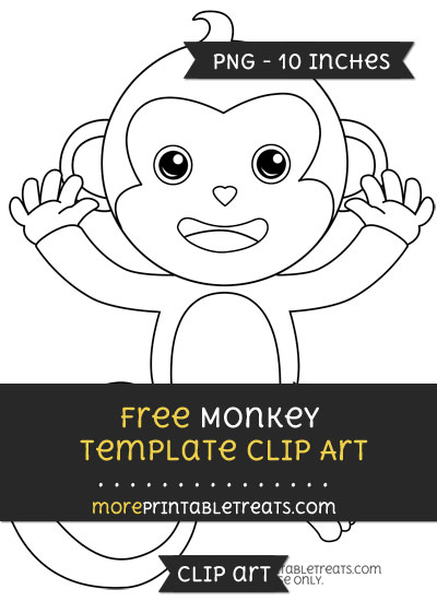 Free Monkey Template - Clipart