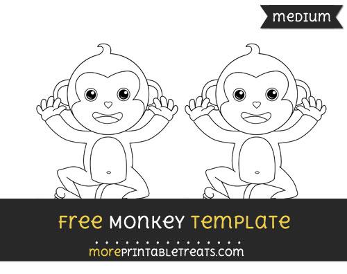 Free Monkey Template - Medium