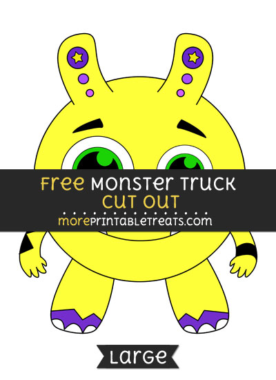 Free Monster Cut Out - Large size printable