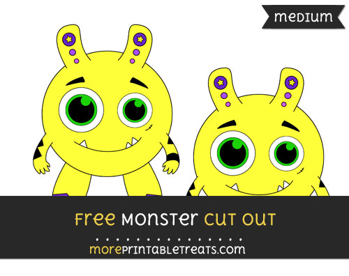 Free Monster Cut Out - Medium Size Printable