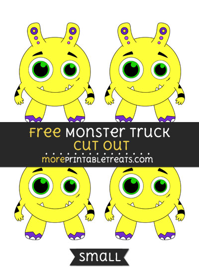 Free Monster Cut Out - Small Size Printable