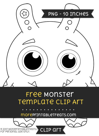 Free Monster Template - Clipart