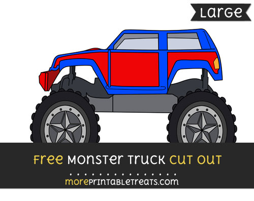 Free Monster Truck Cut Out - Large size printable