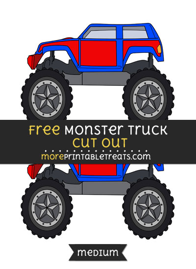 Free Monster Truck Cut Out - Medium Size Printable