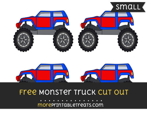 Free Monster Truck Cut Out - Small Size Printable