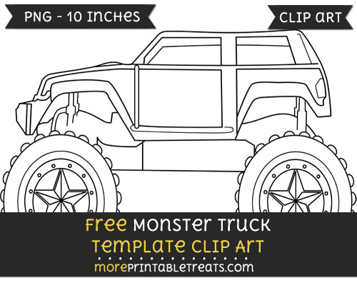 Free Monster Truck Template - Clipart