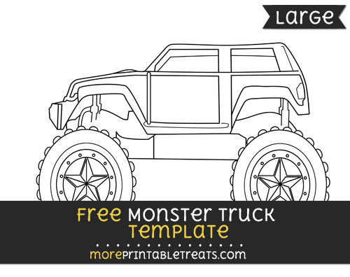 Free Monster Truck Template - Large