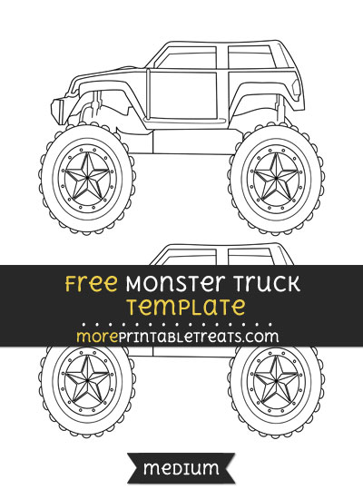 Free Monster Truck Template - Medium