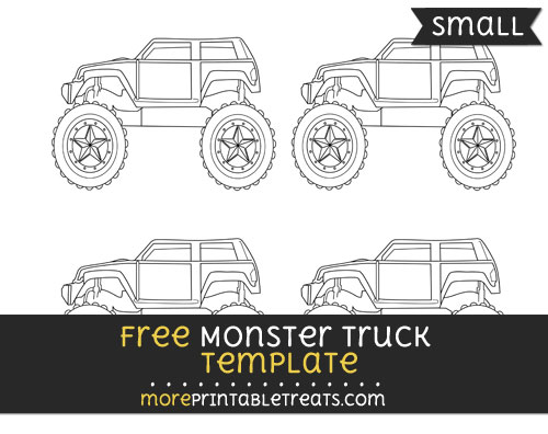 Free Monster Truck Template - Small