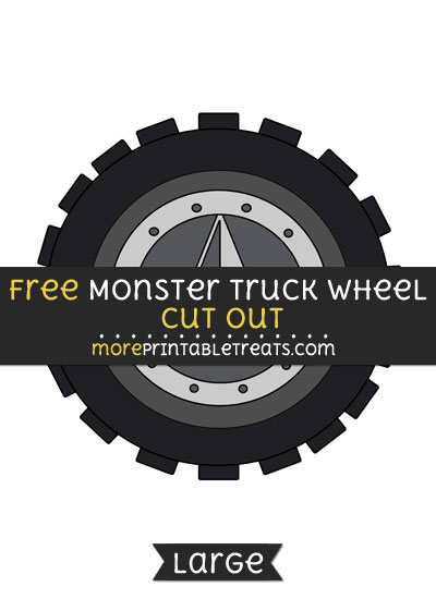 Free Monster Truck Wheel Cut Out - Large size printable