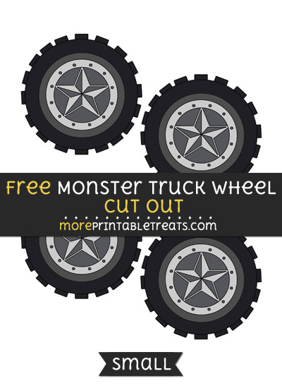 Free Monster Truck Wheel Cut Out - Small Size Printable