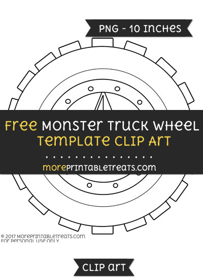 Free Monster Truck Wheel Template - Clipart