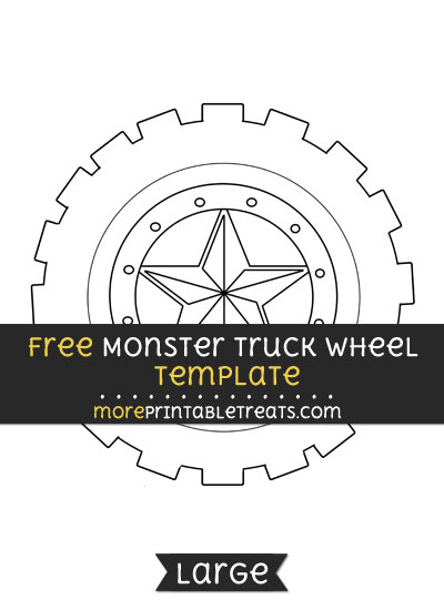 Free Monster Truck Wheel Template - Large