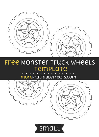 Free Monster Truck Wheel Template - Small