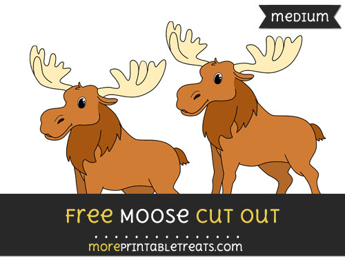 Free Moose Cut Out - Medium Size Printable