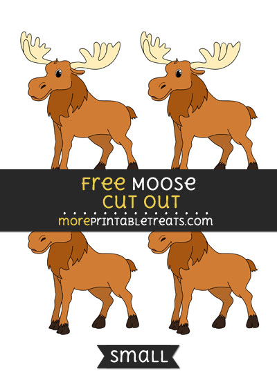 Free Moose Cut Out - Small Size Printable