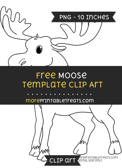 Free Moose Template - Clipart