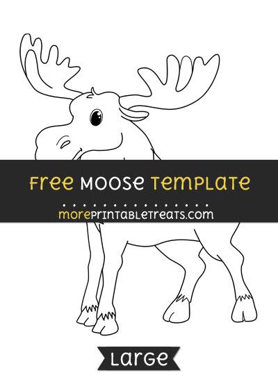 Free Moose Template - Large