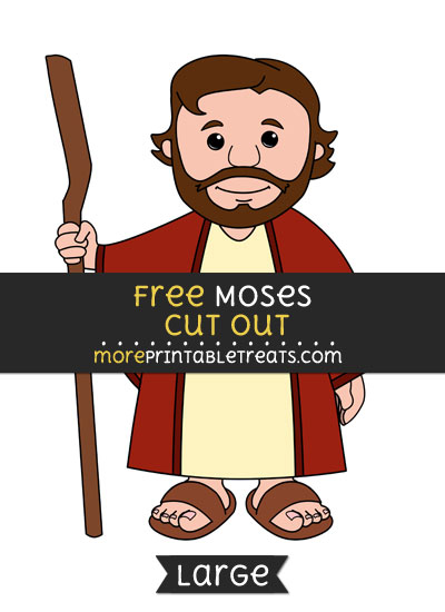 Free Moses Cut Out - Large size printable