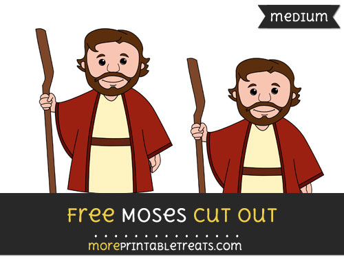 Free Moses Cut Out - Medium Size Printable