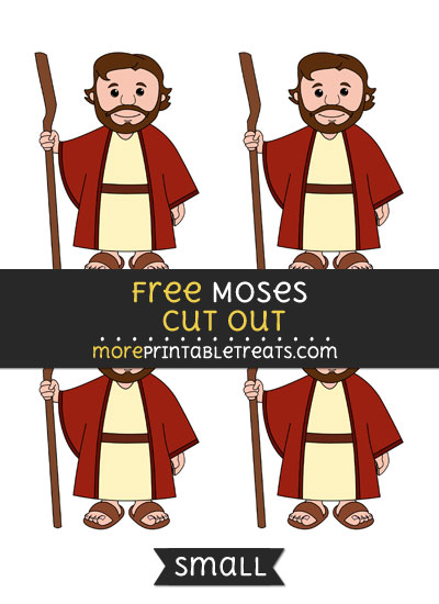 Free Moses Cut Out - Small Size Printable