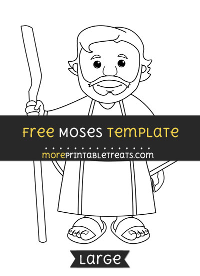 Free Moses Template - Large