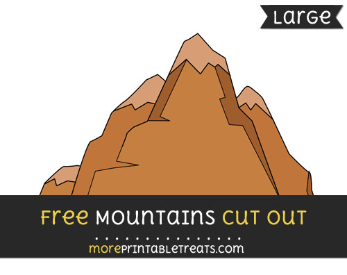 Free Mountains Cut Out - Large size printable