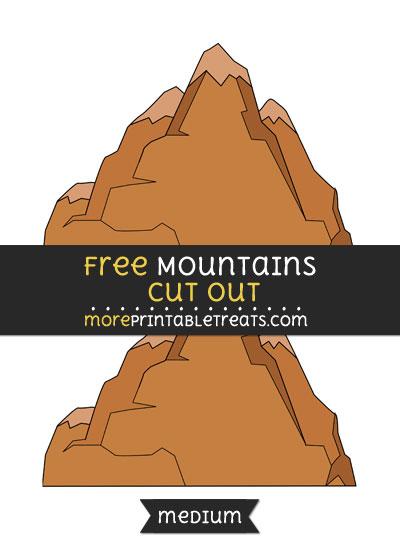 Free Mountains Cut Out - Medium Size Printable