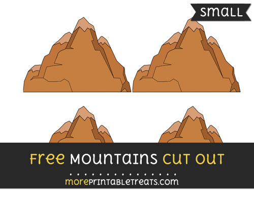 Free Mountains Cut Out - Small Size Printable