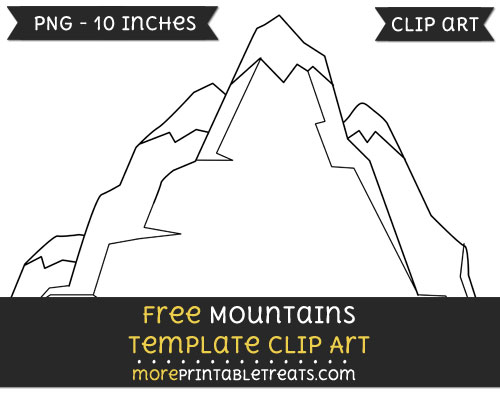 Free Mountains Template - Clipart